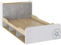 Полуторная кровать ТриЯ Мегаполис ТД-315.00.01 120x200 (бунратти/белый с рисунком) -