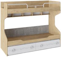 Двухъярусная кровать ТриЯ Мегаполис ТД-315.11.01 (бунратти/белый с рисунком) -