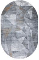 Ковер Milat Leda B003A-CREAM-ANTHRACITE-OVAL (0.8x1.5) -