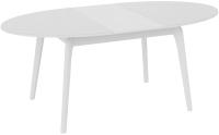 Обеденный стол ТриЯ Марсель СМ(Б)-102.01.12(1) (белый/стекло белое глянец) -