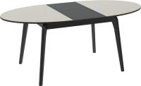 Обеденный стол ТриЯ Марсель СМ(Б)-102.01.12(1) (венге/стекло бежевое глянец) -