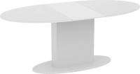 Обеденный стол ТриЯ Марсель СМ(Б)-102.01.12(2) (белый/стекло белое глянец) -