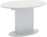 Обеденный стол ТриЯ Марсель СМ(Б)-102.02.12 (белое/стекло белое глянец) -