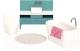 Комплект аксессуаров для кукольного домика Lundby Ванна / LB-60306800 -