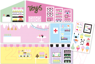 Аксессуар для кукольного домика Lundby Обои. Магазин / LB-60500600