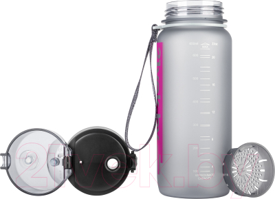 Бутылка для воды 21vek Colorful Frosted / 3037 (650мл, серый)