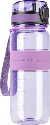 Бутылка для воды 21vek Magic Ion / 5029 (650мл, фиолетовый)