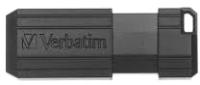 Usb flash накопитель Verbatim Pinstripe 128GB / 49071 (черный) -