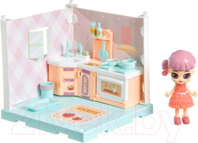 Комплект аксессуаров для кукольного домика Bondibon Кукольный уголок и куколка Oly. Кухня / ВВ4491