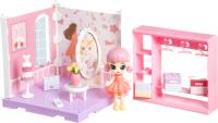 Комплект аксессуаров для кукольного домика Bondibon Кукольный уголок и куколка Oly. Гардеробная / ВВ4493 -