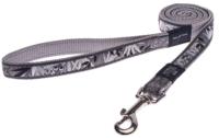 Поводок Rogz Armed Response Lijn XL Silver Gecko 25мм / RHLL02BS -