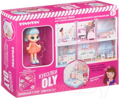 Комплект аксессуаров для кукольного домика Bondibon Кукольный уголок и куколка Oly. Столовая / ВВ4494