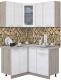 Готовая кухня Интерлиния Мила 12x13 (вудлайн кремовый) -