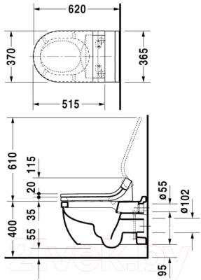 Унитаз подвесной Duravit Starck 3 / 2226590000