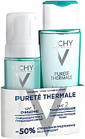 Набор косметики для лица Vichy Purete Thermale тоник 200мл + пенка очищающая 150мл -
