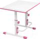 Парта Polini Kids Simple М1 (белый/розовый) -