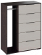 Комод ТриЯ Нуар комбинированный тип 1 (венге цаво/дуб белфорт) -