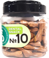 Лакомство для собак For Dogs Dental Snack Рецепт № 10 Bone для очистки зубов / TUZ535 (750г) -
