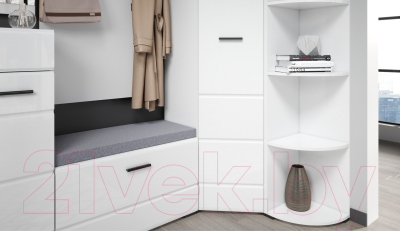 Угловое окончание для шкафа Империал Йорк 340 (белый жемчуг)