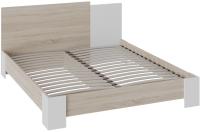 Двуспальная кровать ТриЯ Валери (дуб сонома/белый ясень) -