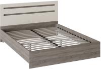Двуспальная кровать ТриЯ Фьюжн ТД-260.01.03 160x200 (бежевый/дуб сонома трюфель) -