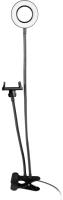 Селфи-лампа Nova С гибкими ножками на прищепке / 38 439 (черный) -