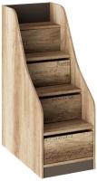 Лестница для кровати ТриЯ Пилигрим ТД-276.11.12 с ящиками (дуб каньон светлый/серый) -
