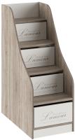 Лестница для кровати ТриЯ Брауни ТД-313.11.12 с ящиками (бежевый с рисунком/дуб сонома трюфель) -