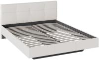 Двуспальная кровать ТриЯ Элис тип 1 с мягкой обивкой (белый) -
