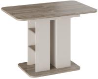Обеденный стол ТриЯ Мюнхен тип 2 (бежевый/дуб сонома трюфель) -