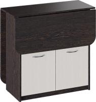 Обеденный стол ТриЯ Визит раскладной (венге цаво/дуб молочный) -