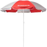 Зонт пляжный Sundays HYB1812 (красный/серебристый) -