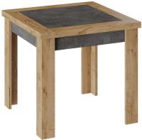 Обеденный стол ТриЯ Хьюстон тип 3 раздвижной (дуб вотан/моод темный) -