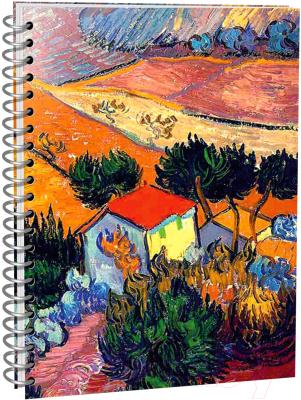 Скетчбук Попурри Ван Гог. Пейзаж с домом и пахарем