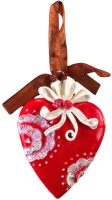 Елочная игрушка Erich Krause Сердце узорное / 44205 -