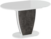 Обеденный стол ТриЯ Монреаль тип 1 (белый глянец/моод темный) -