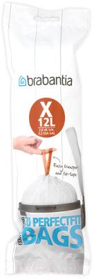 Пакеты для мусора Brabantia PerfectFit X 10-12л / 116728 корзина для мусора сорренто 12л серый м2055 башкирия