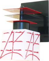 Бра N&B Light Пиастра 7401 НББ (черный/красный) -