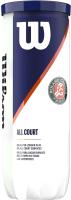 Набор теннисных мячей Wilson Roland Garros / WRT126400 (3шт) -