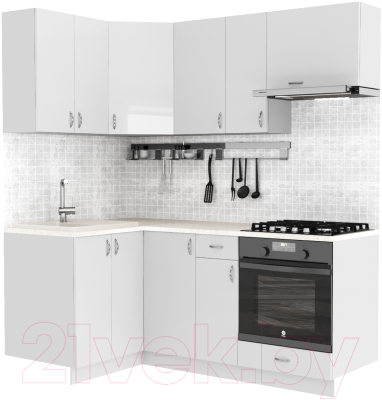 Готовая кухня S-Company Клео глоcс 1.2x1.9 левая