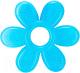 Прорезыватель для зубов Baboo Цветочек 6-003 (голубой) -