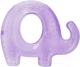 Прорезыватель для зубов Baboo Слоник 6-007 (фиолетовый) -