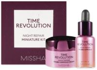 Набор косметики для лица Missha Time Revolution Night Repair Probio Miniature Kit Крем+Сыворотка (7мл+10мл) -