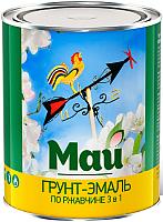 Эмаль Ярославские краски Май на ржавчину 3 в 1 (800г, красный) -