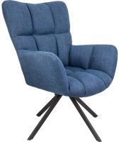 Кресло мягкое Седия Colorado (темно-синий велюр Chita/черный) -