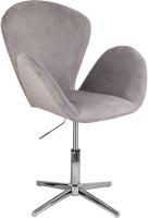 Кресло мягкое Седия Toronto (велюр серый BL-38/хром) -