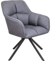 Кресло мягкое Седия Virginia (ткань темно-серый MQ001-5/черный) -