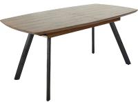 Обеденный стол Седия Accent 160-200x90x75 (орех/черный) -