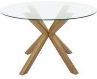 Обеденный стол Седия Dolce 2 (стекло/дуб античный) -