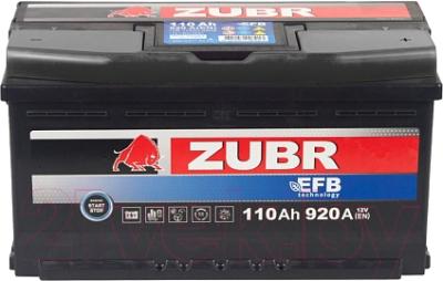 Автомобильный аккумулятор Zubr EFB R+